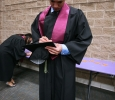 Christian tanner, excersize physiology, fills out his card with his name and information before the Midwestern State University graduation, May 16, 2015 at the Kay Yeager Coliseum. Photo by Rachel Johnson