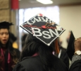 "Gabriela Ruiz, nursing graduate, said, ""[The reason she decorated her cap was] I wanted to stand out."" Photo by Jeanette Perry."