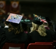 Graduates watch as students received their degrees at Midwestern State University fall graduation Dec. 17, 2016. Photo by Brendan Wynne