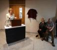 University President Suzanne Shipley recognizes former provost Betty Stewart at a celebration in Stewart's honor. Photo by Bradley Wilson