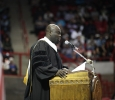 Commencement speaker Michael Obeng at the Midwestern State University graduation, May 14, 2016. Photo by Topher McGehee