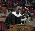 Commencement speaker Michael Obeng at the Midwestern State University graduation, May 14, 2016. Photo by Kayla White