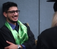 Kiran Chapagain, Mechanical Engineering Graduate shares a laugh before heading to the ceremony.Midwestern State University Commencement Cermemony, Kay Yeager Coliseum.May 14th.by Timothy Jones