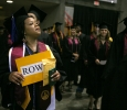 Tracey Tyson enters the coliseum at Midwestern State University graduation, May 13, 2017. Photo by Bradley Wilson