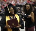 Cheria Moore Social Work graduate.Midwestern State University Commencement Cermemony, Kay Yeager Coliseum.May 14th.by Timothy Jones