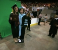 Vice President for Administration and Finance, Marilyn Fowle, poses with her daughter Andrea Fowle who received her bachelor of science degree at Midwestern State University graduation, May 13, 2017. Photo by Bradley Wilson