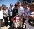 Andrea Mendoza-Lespron with Luke Allen and family after Midwestern State University graduation, May 13, 2017. Photo by Bradley Wilson