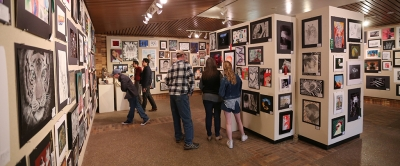 at the opening of the MWSU High School Art Show, Feb. 3, 2018. Photo by Treston Lacy