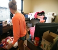 Ellie Gunderson, a sophomore in political science, in her new room during Move-in for Legacy Hall at Midwestern State University, Aug. 20, 2016. Photo by Bradley Wilson