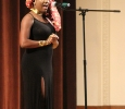 Kamilah Tobin, mass communication sophomore, gives a welcome to this years Caribfest Pageant, she was the 2016 crown holder for Miss Caribfest. Photo by Marissa Daley
