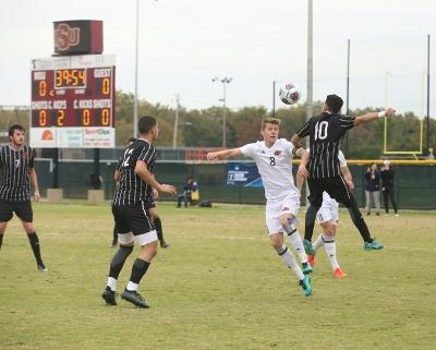 Ross Fitzpatrick at the NCAA Division II South Central Regional, Nov. 12, 2017. MSU beat Colorado Mesa 3-0. Photo by Bradley Wilson