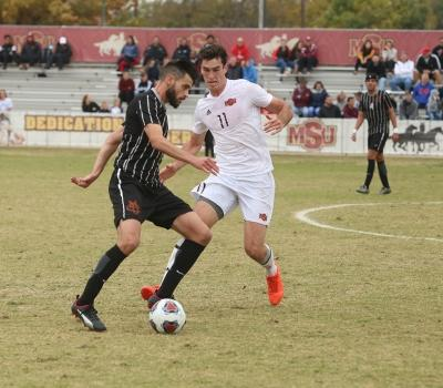Scott Doney at the NCAA Division II South Central Regional, Nov. 12, 2017. MSU beat Colorado Mesa 3-0. Photo by Bradley Wilson