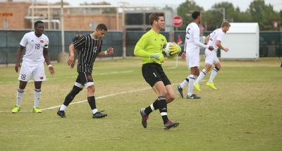 Gaolie Taylor Lampe holds on to the ball at the NCAA Division II South Central Regional, Nov. 12, 2017. MSU beat Colorado Mesa 3-0. Photo by Bradley Wilson