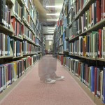Students not browsing library stacks