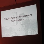Faculty Senate rejects proposed salary cuts