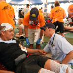Athletic trainers volunteer time at medical tent