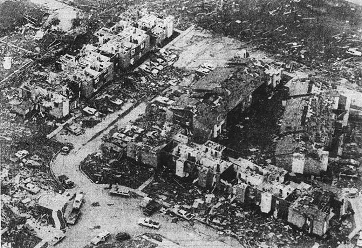 Wichita Falls resembled a city ravaged by war