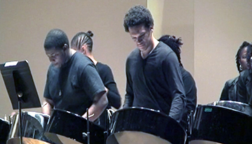 Percussion students perform for live audience