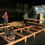 Delayed stage construction hinders theater rehearsals