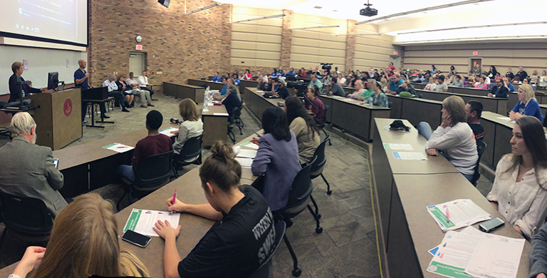 More than 120 attend community meeting on Ebola