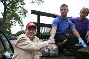 Jesse Rogers helped at the Sikes Lake cleanup Sept. 5, 2014. Photo by Bradley Wilson