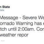 Tornado warning expired