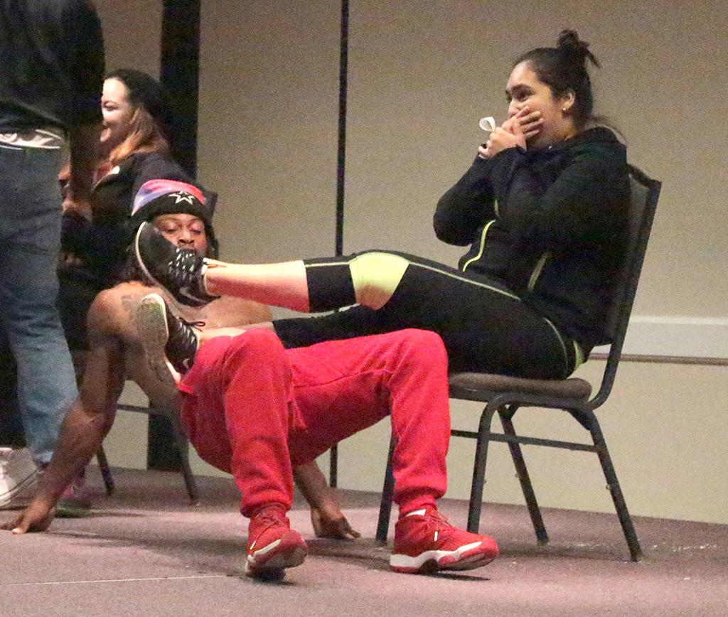 Lip-sync contest goes off script