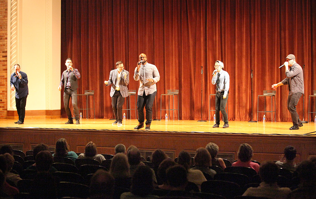 Akin half full for a cappella group
