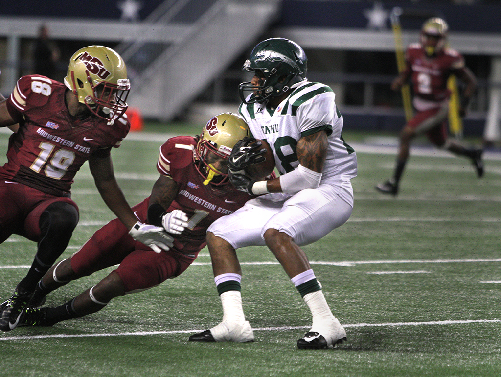 Marqui Christian being scouted for the NFL