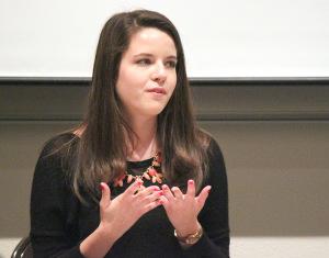 Andrea Mendoza-Lespron, English junior and SGA Vice President candidate
