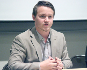 Andrew Gray, business administration and management junior and SGA President candidate
