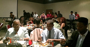 Attendees enjoy live music and catered food at the Black Excellence Gala. Photo by Rutth Mercado.