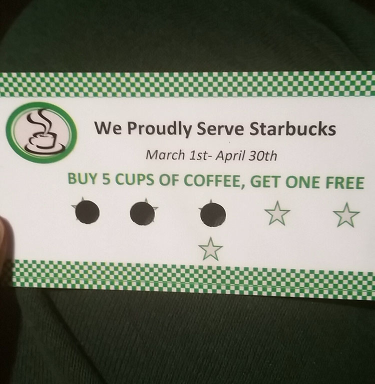 Coffee Punch Cards - Coffee Drinker