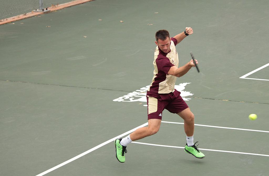 Men's tennis beats rival Cameron, playoff dream not dead