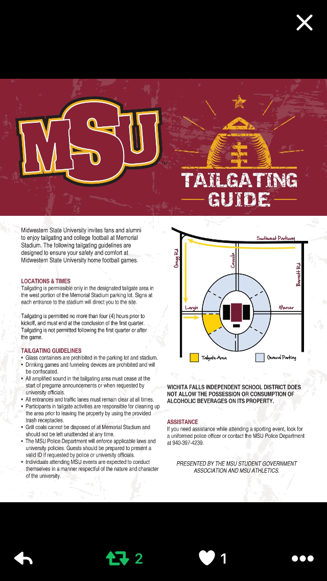 Tailgating policy tested at first home game