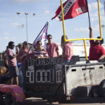 Homecoming parade marches through campus