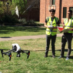 Engineers use drone to map trees on campus