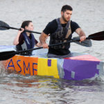 Engineering students sail to first in cardboard boat race Oct. 20