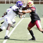 Football takes down Tarleton, retires Grays jersey