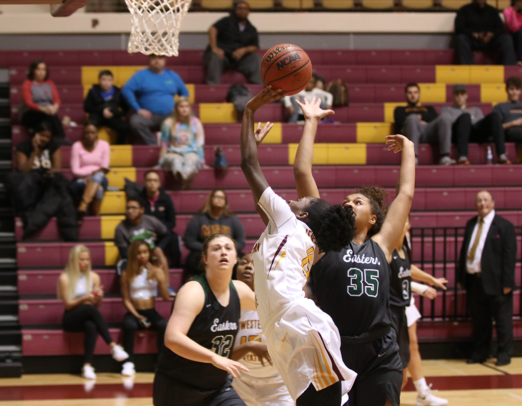 Women's basketball pulls ahead of Eastern New Mexico University
