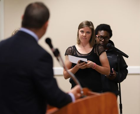 Student debaters talk political stereotypes