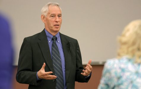 Paul Carney first to visit campus in search for new vice president