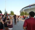 Students and greeks tailgate before the Midwestern State University v. Eastern New Mexico game at AT&T Cowboys Stadium in Arlington, Sept. 20, 2014. Photo by Lauren Roberts
