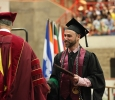 Robin Goodfellowe, science and mathematics senior, receives his deploma at Midwestern State University graduation, May 16, 2015 at the Kay Yeager Coliseum. Photo taken by Francisco Martinez