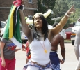 Francine Baron, special education senior, dances with her Dominica flag at Caribfest on Sept.30. Photo by Sara Keeling
