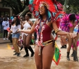 Lidenia Clarke, Spanish junior, shakes her chest for the camera during the Caribfest Parade that looped from Dillard to Jesse Rogers Promenade Sept. 30. Photo by Rachel Johnson