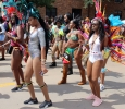 Girls show off their Caribbean spirit in colorful outfits and head pieces for the 2017 Caribfest parade held in the Dillard parking lot Sept 30. Photo by Marissa Daley