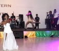 Spice and Ice show off their bright white dresses and glittered back up dancers as they sing No Bad Vibes as their talent for the 2017 Caribfest Soca Show hosted in the Sikes Lake Center. Sept. 29. Photo by Marissa Daley