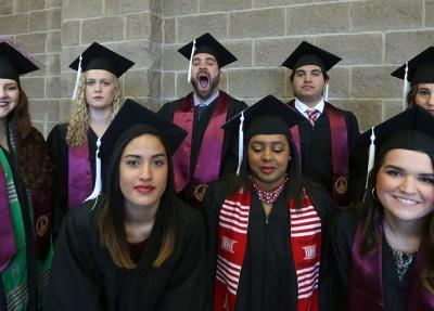 at graduation, Dec. 16, 2017. Photo by Bradley Wilson