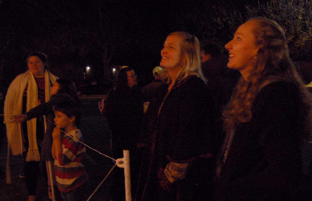 Lucretia Taylor, MSU alumni, Hannah Taylor, accounting grad student attend their twentieth year at the MSU- Burns Fantasy of Lights in the front lawn of the Hardin building on Nov. 20, 2017. photo by Shea James